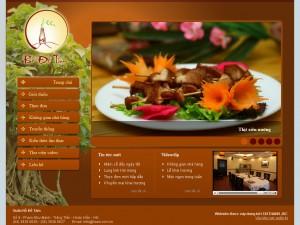 Thiết kế website nhà hàng 2
